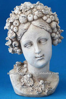 WHITE POLYSTONE FEMALE BUSTS