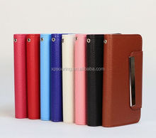 Detachable wallet leather case for iphone 5, 2 in 1 leather case for iphone 5S