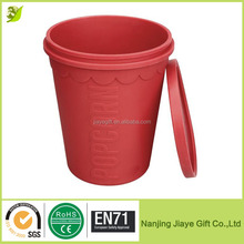 Wholesale BPA Free Silicone Popcorn Bucket with Lid