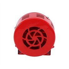 Horn Loud 12V Electric Car Truck Motorcycle Driven Brake Motor Air Raid Siren Horn Fire Rescue Alarm 50s Red