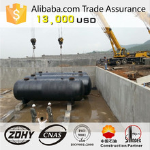 underground storage tank designed for fuel station,Diesel and gasoline,fuel tank single wall
