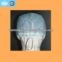 Disposable cap with tie for medical and surgical