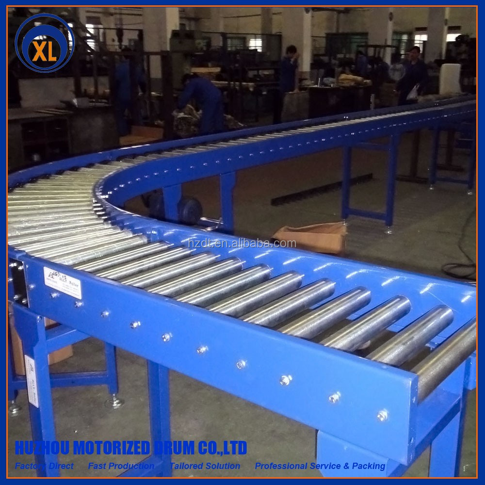 Great quality of Curve Roller Conveyor include belt and chain sprocket