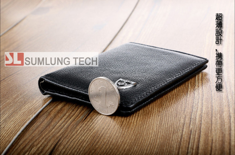 RFID blocker Cow Genuine Leather wallet PROTECTS your Credit Card from unauthorized scanning