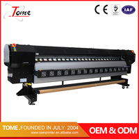 high speed large format printing flora solvent printer