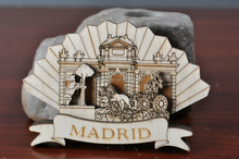 Madrid landscape souvenir fridge magnet