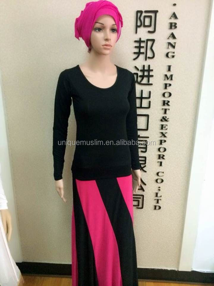 SL014 long cotton jersey body shirt,wear underscarf short sleeve clothes