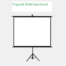 "72"" Toprank Multi-functional Manual Pull On YES Tri-pod Projection Projector Screen"
