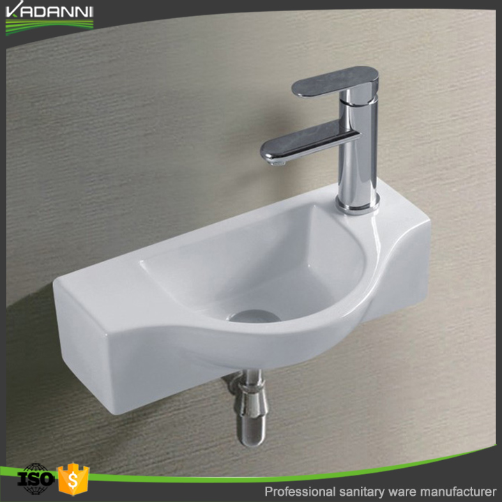 Elegant chinese bathroom wall hung ceramic art basin sink for wholesale