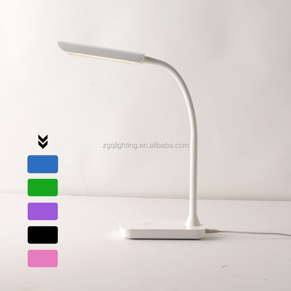 5w Adjustable USB Cable chargableTouch Sensor simple LED table Reading Light factory