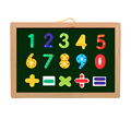 Full set children toys hanging double use drawing board with chalk,marker pens, erases, numbers