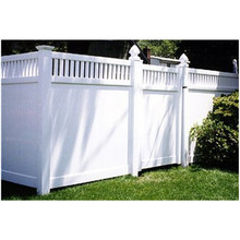 stocks supplier no splinters painting cheap plastic pvc prefab garden portable fence panels