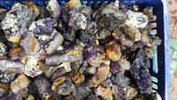 Wholesale prices natural purple fluorite cluster for decoration, fluorite mineral stones for decoration