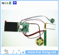 4.3 inch TFT LCD screen voice recording module for greeting cards video module
