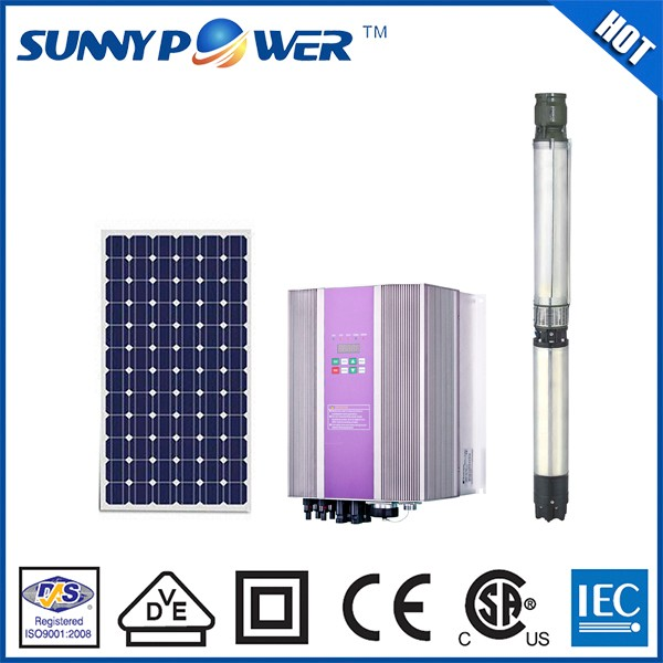 New automatic ac submersible solar water pump