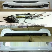 AUTO CAR BODY KIT FOR HONDA FIT JAZZ 2011-2012 RS LOOK FRONT BUMPER / REAR BUMPER / SIDE SKIRT CAR BUMPER