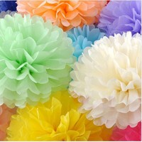 Factory supply 10 inch beautiful tissue paper pompoms for wedding party,birthday party