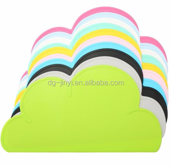 Top quality silicone cloud placemat silicone placemats for children