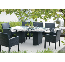 2017 Trade Assurance 7-piece Dinning Table & Chair Set Wicker/Rattan Outdoor Patio Furniture