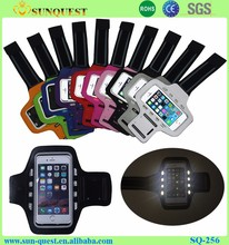 Outdoor Sport Accessories Logo Printed Armband Running Stretch Led Mobile Phone Armbag Arm Band