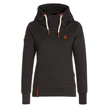 Fleece Pullover women Black Hoodie