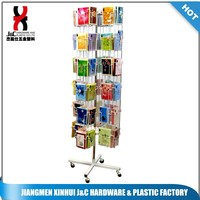 POP Floor Standing Rotated Greeting Card Display Rack/Metal wire gift card display stand/revolving business card displays