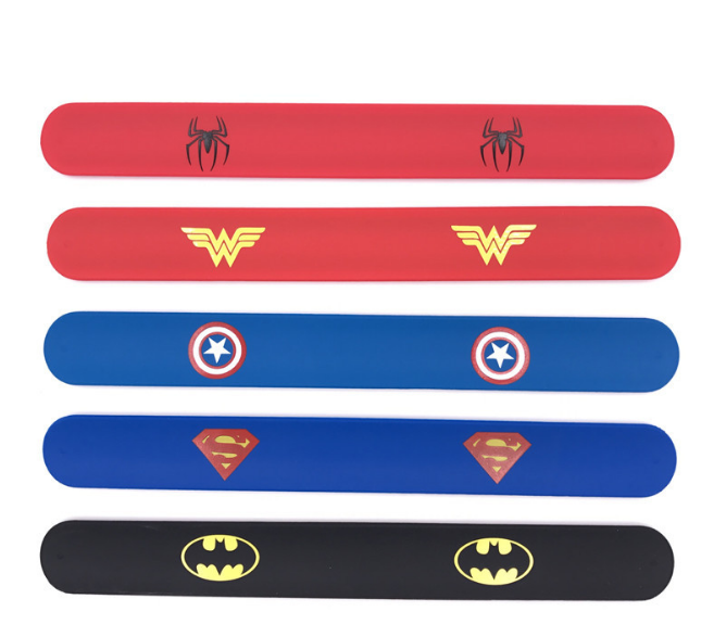 custom logo pvc slap band wholesale reflective bracelet