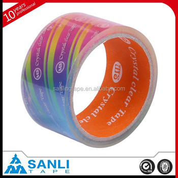 Super Clear Box Tape Single Sided Adhesive Side
