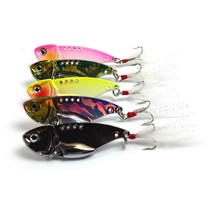 5Pcs/Pack 5Colors 5.5cm 11g Fishing Tackle 5 Colors Vib Spoon Lures Metal Lure Per Piece Fishing Lure Fishing Bait
