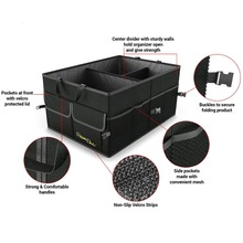 Folding car trunk organizer bag,Trunk Organizer Type and OXFORD Material car trunk organizer