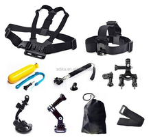 China factory Gopros Go pro accessories SJ4000 bundle accessoires, SJ4000 pack accessories for SJ4000 sport action camera