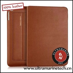Ultramarine Super Slim Business Folding Stand Real Leather Case For iPad 2 3 4