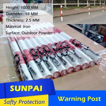Sunpai metal barrier and sleeves bollards
