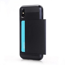 Card Armor Anti-shock Protect mobile phone case Back Cover For iPhone X