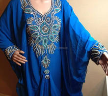blue Designer Clothing Manufacturers Abaya Kaftan Dress for Woman dubai fashionable wholesale hijab jilbab design k6773