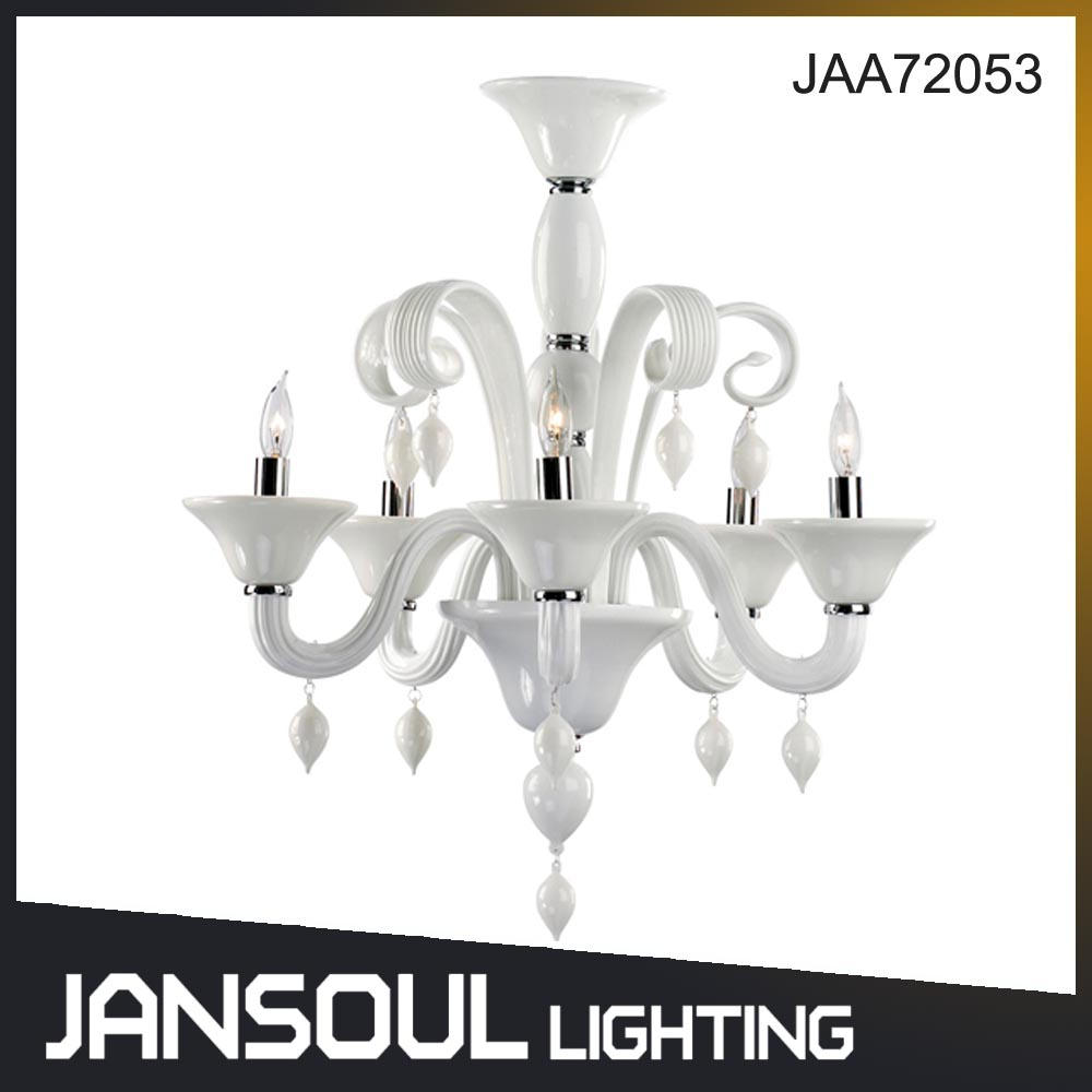 Arabic style wholesale glass white chandelier pendant lighting for hotel or wedding