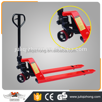 Cheap price high lift jack stainless steel 3 ton 5 ton scale forklift hand hydraulic lifting pallet truck for warehouse