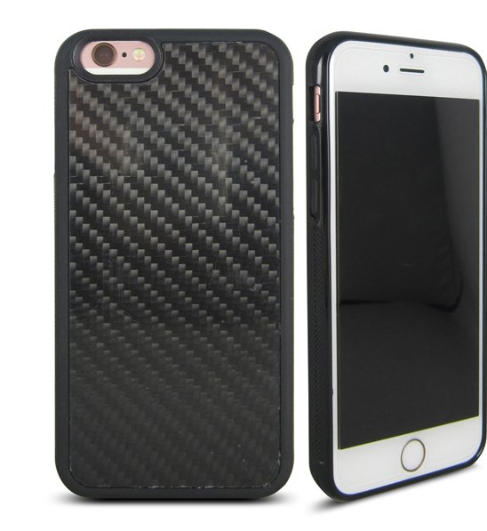 Hot sale TPU carbon fiber case ,3K twill shiny carbon fiber phone cover for iPhone 6