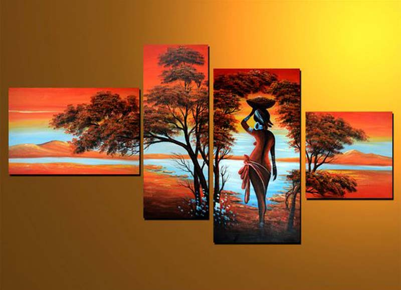 Classic canvas tree group paintings art