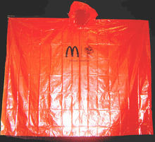 Custom Promotional Plastic Poncho PVC Raincoat for Adult