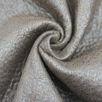 420GSM High Level Bronze Embossing Micro Suede Fabric For Sofa