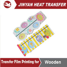 Cartoon customised heat transfer film for wooden Height ruler