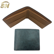 designer good quality oil waxed genuine cowhide men wallets leather travel wallets