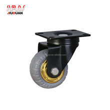 7 inch solid rubber caster wheel with brake