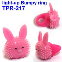 Plastic Flashing Bumpy Rings/Light Up Jelly Ring