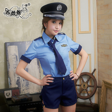 Size XL blue L155 cosplay sexy police officer halloween costume police costume with wholesale price
