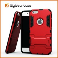 PC + Silicone combo robot hybird kickstand case for iphone 6 4.7inch