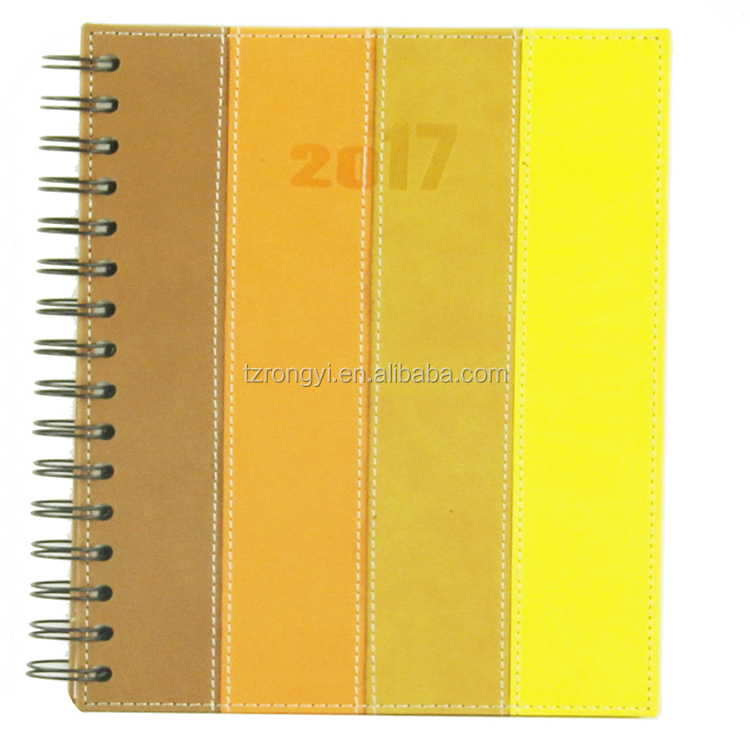 Made in china A5 or as request spiral bound diaries