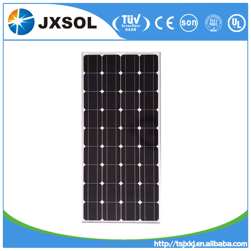 High quality mono crystalline solar module/solar panel 160w price per watt solar panel