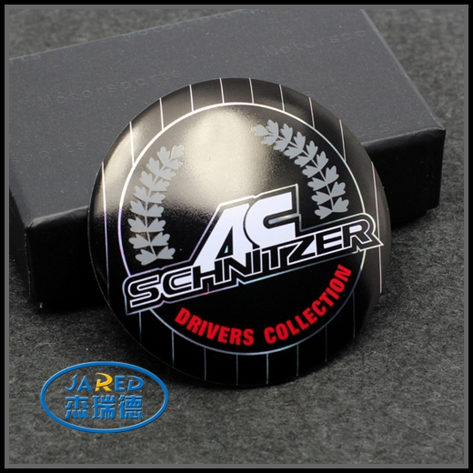 Custom Handcrafted Aluminum Round Car Emblem Badge Sticker Label for Car Decoration